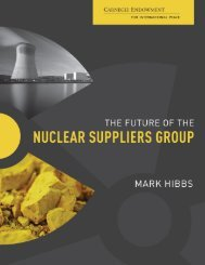 The Future of the Nuclear Suppliers Group - Carnegie Endowment ...