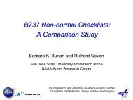 B737 Non-normal checklists - Human Factors Research and ...