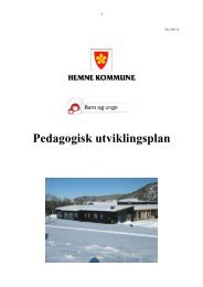 Pedagogisk utviklingsplan - Hemne kommune