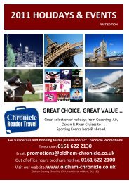 2011 HOLIDAYS & EVENTS - Oldham Chronicle