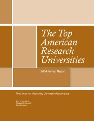 The Top American Research Universities--2006. - Jvlone.com