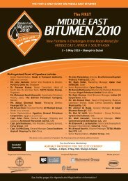 BITUMEN 2010 - The Conference Connection Group