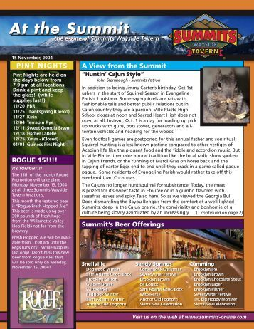 At the Summit At the Summit - Summits Wayside Taverns