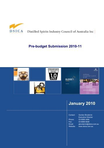 DSICA Pre-Budget Submission 2010-11