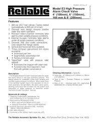 Model E3 High Pressure Alarm Check Valve 4² (100mm ... - Firequip
