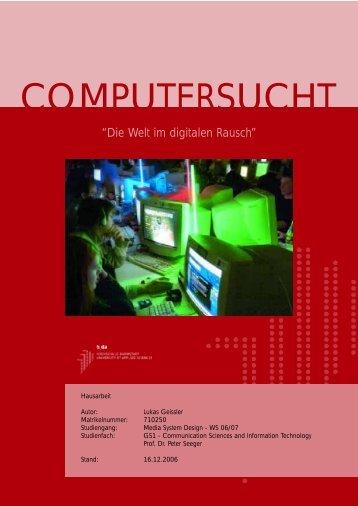 Hausarbeit Computersucht 458k vom 17.12.2006 - Geissler - Heubach