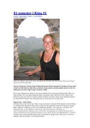 Et semester i Kina #1 - Julie Lerche