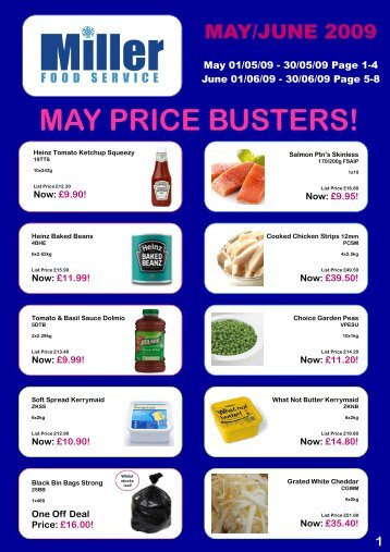 MAY PRICE BUSTERS! - Miller Food Service