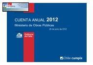 CUENTA ANUAL 2012 - Región de Magallanes - MOP