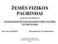 Žemės fizikos pagrindai - Vilniaus universitetas