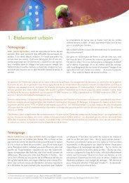1. Etalement urbain - Ateliers du territoire