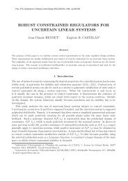 robust constrained regulators for uncertain linear systems - LSIS