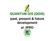 QUANTUM GIS (QGIS) past, present & future development at JPBD ...