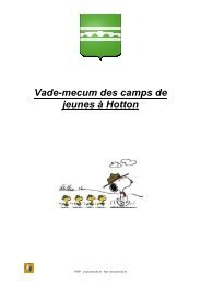 camps de jeunes à Hotton j 2012 - PSSP - Marche-en-Famenne