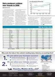 2006 Dairy Industry Statistics - Progressive Dairyman Magazine