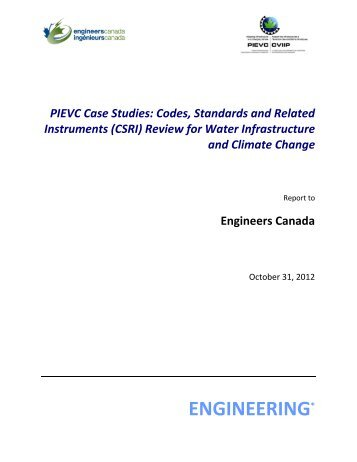 Codes, Standards and Related Instruments (CSRI) - Vulnerability ...