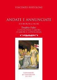 Lettera pastorale - ARCIDIOCESI METROPOLITANA DI ...