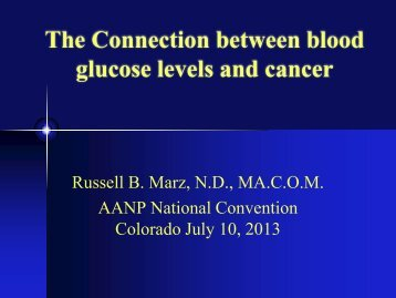 2) Fasting blood glucose - American Association of Naturopathic ...