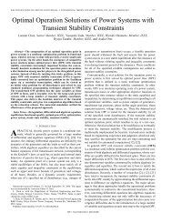 Optimal operation solutions of power systems with transient stability ...