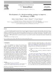 Development of a decision-making strategy to improve the efficiency ...