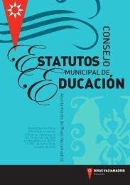 estatutos del consejo municipal de educación - Ayuntamiento Rivas ...