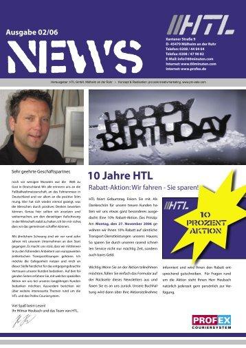 10 Jahre HTL - Heubach Transport Logistik GmbH