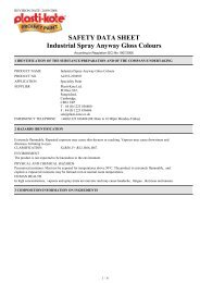 SAFETY DATA SHEET Industrial Spray Anyway Gloss ... - Toolbank