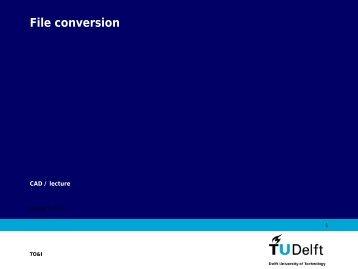 File conversion - TOI