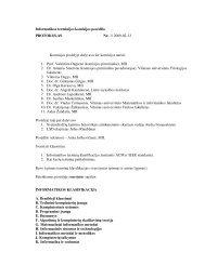 Posėdžio protokolas