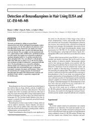 Detection of Benzodiazepines in Hair Using ELISA and LC–ESI-MS ...