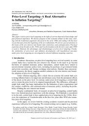 Price-Level Targeting–A Real Alternative to Inflation Targeting?