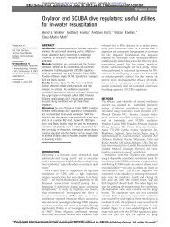 Oxylator and SCUBA dive regulators: useful utilities ... - Koh Tao EMS