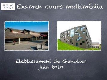 Examen cours multimédia - PRessMITIC