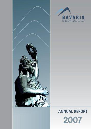Annual Report 2007 - Baikap | BAVARIA Industriekapital AG