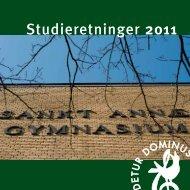 Studieretninger 2011 - Sankt Annæ Gymnasium