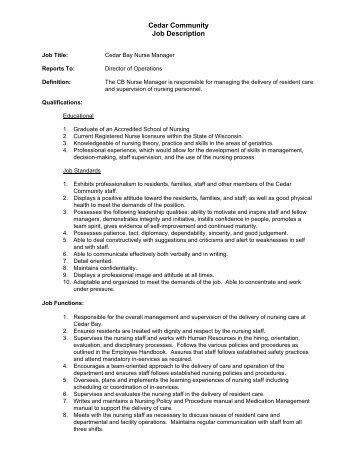 direct care worker job description reference cedar county - Direct Care Job Description