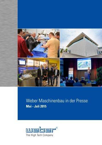 Weber Maschinenbau in der Presse