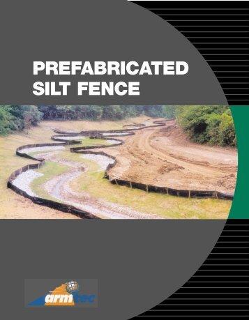 Prefabricated Silt fence - Armtec