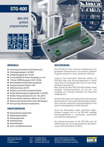 STG-600 - BARTH Elektronik GmbH