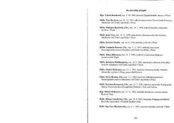 Podrobný obsah ročníku (pdf, 237 kB) - Archiv města Plzně