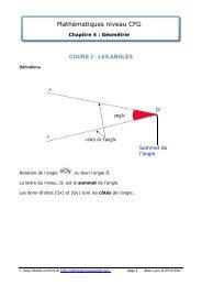 chapitre 4 cours 2 - Matheur