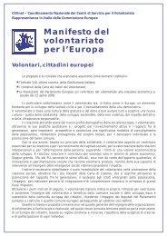 Manifesto del volontariato per l'Europa - CSVnet