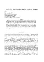 A generalized Cyclic-Clustering Approach for Solving ... - LSIS