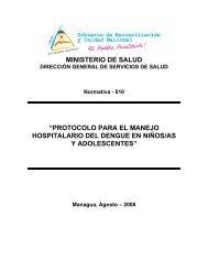Protocolo para el manejo hospitalario del Dengue en niños/as y ...