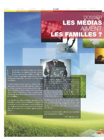 LES MÉDIAS LES FAMILLES ? - Familles de France