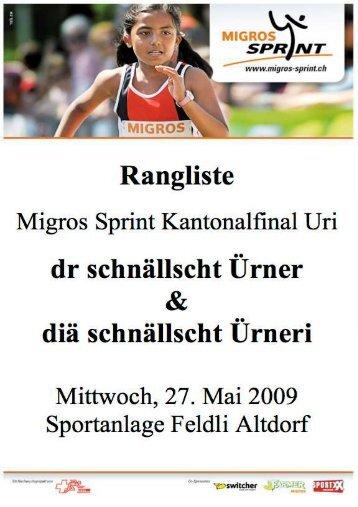 Rangliste 2009 - Swiss Athletics Sprint