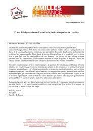 Projet de loi garantissant l'avenir et la justice du système de retraites