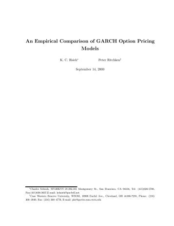 An Empirical Comparison of GARCH Option Pricing Models