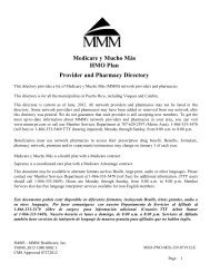 Medicare y Mucho Más HMO Plan Provider and Pharmacy ... - MMM