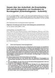 Allgemeine Verwaltungsvorschrift zum Aufenthaltsgesetz - Soldan.de